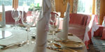 Crystals and shimmering tablecloths to enhance the Crystal Clear event theme